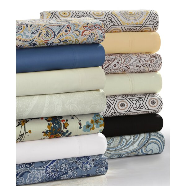 Whitehall Deep Pocket 300 Thread Count 100% Cotton Sheet Set by Alcott Hill